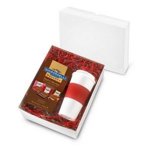 16 Oz. Brazilian Tumbler with 4.57 Oz. Bag of Ghirardelli chocolate Squares