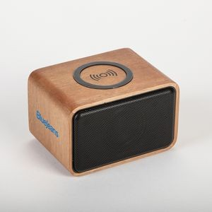 Real Wood Bluetooth Speaker & Wireless Charger