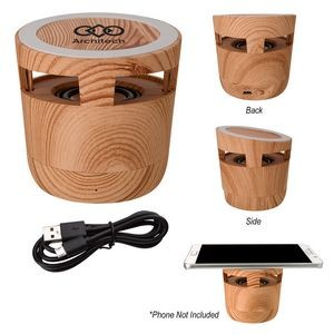 Woodgrain Wireless Charging Pad And Speaker