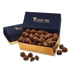 Cocoa Dusted Truffles in Navy & Gold Gift Box