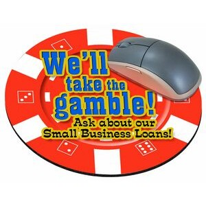 "Casino Chip Stock Round Natural Rubber Mouse Pad (8"" Diameter)"