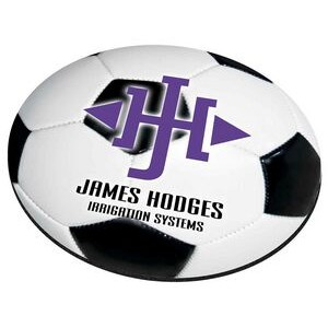 "Soccer Ball Stock Round Natural Rubber Mouse Pad (8"" Diameter)"