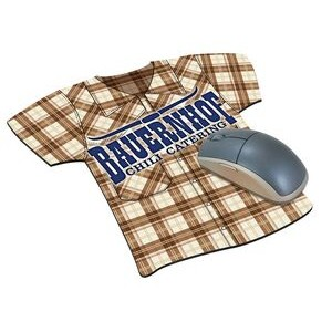 Shirt Look Natural Rubber Mouse Pad (4 Color Process)