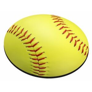 "Softball Stock Round Natural Rubber Mouse Pad (8"" Diameter)"