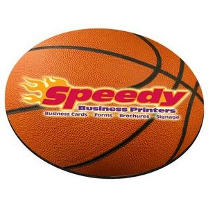 "Basketball Stock Round Natural Rubber Mouse Pad (8"" Diameter)"