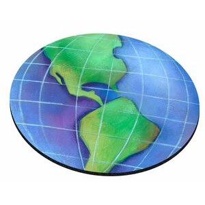 "Globe Stock Round Natural Rubber Mouse Pad (8"" Diameter)"