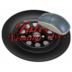 "Tire Stock Round Natural Rubber Mouse Pad (8"" Diameter)"
